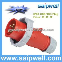 2013 NEW IP67 WATERPROOF PLUG AND SOCKET WITH 3 PIN