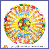Multicoloured Disposable Paper Plates for Parties