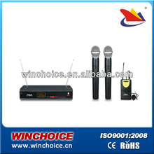headset multi channel wireless microphone system