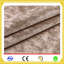 China Suppliers 100% Polyester Crushed Velvet Curtain Fabric For Home Textile
