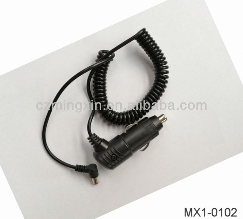 Aliexpress Car ciga lighter cable with DC plugs(PU spring wire)