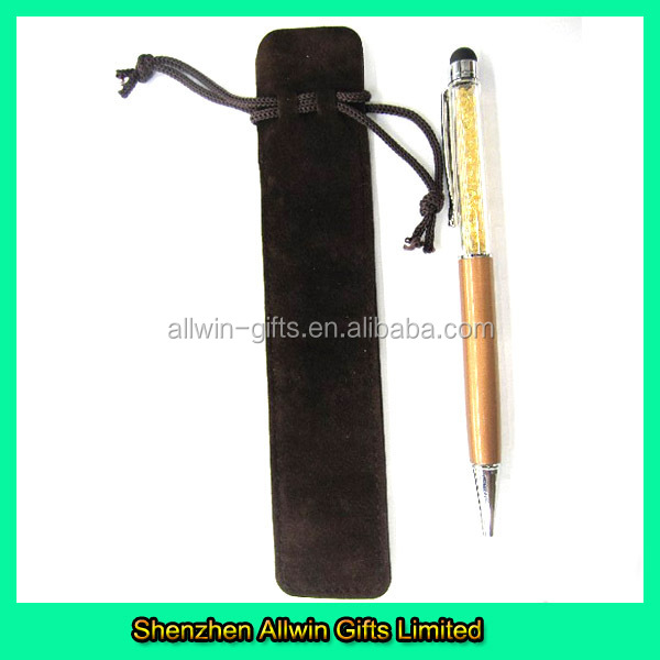 2014 Wholesale Attractive Drawstring Velvet Pen Bag