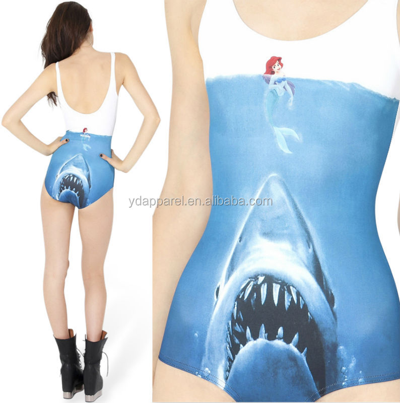 Digital printed mermaid jumpsuits swimwear sea-maid bathing suit