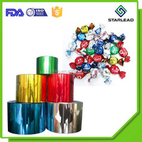 Candy packing milk sweets wrapper packaging PVC twistable film