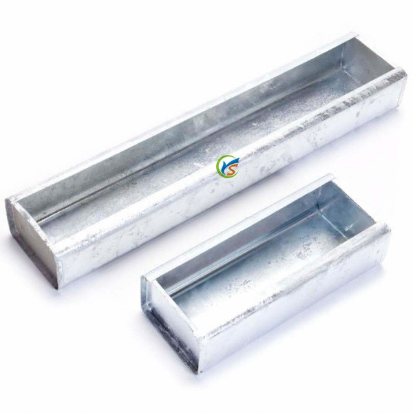 Silver Galvanised Trough Feeder