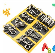 IQ Test Mind Game Toys logical Brain Teaser Metal Wire Puzzles for Adults