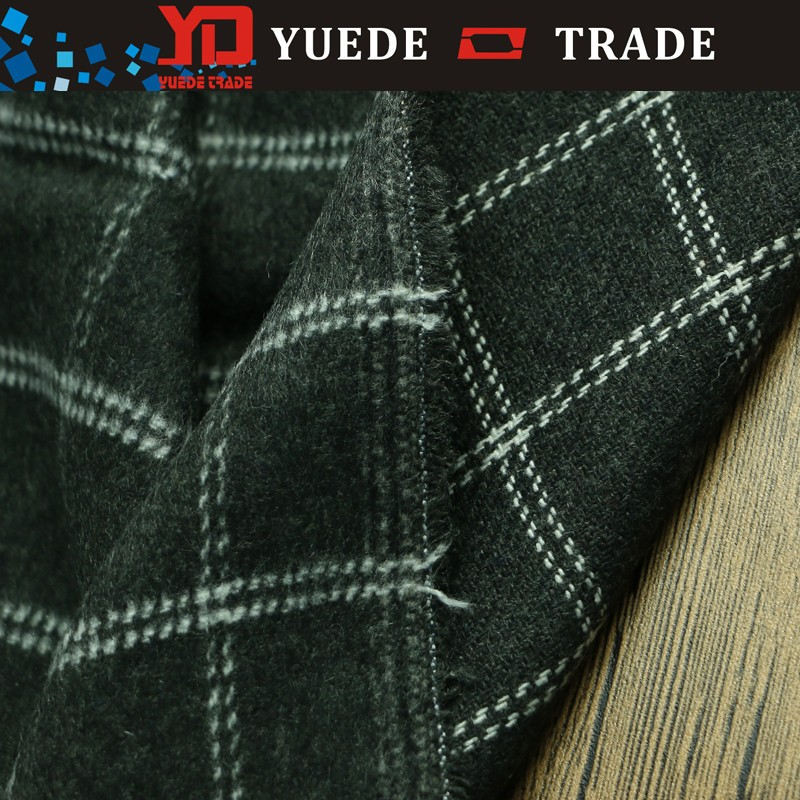stripe herringbone wool polyester fabric for women men is overcoats and trousers