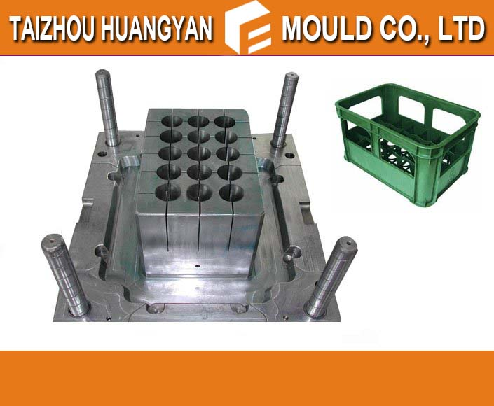 china huangyan plastic wine crate injection mold maker