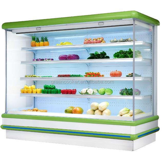 supermarket open chiller display case