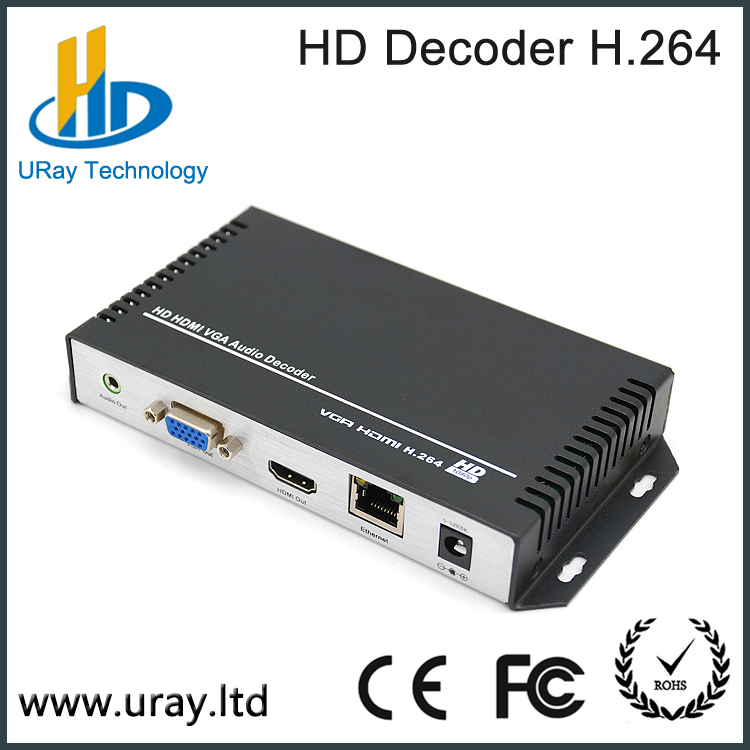 IPTV Solution MPEG-4 AVC/H.264 Full HD Video IPTV Encoder Decoder for H264 IP Decoder RTSP