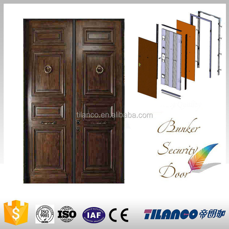 modern house cheap solid wood residential luxury exterior security doors