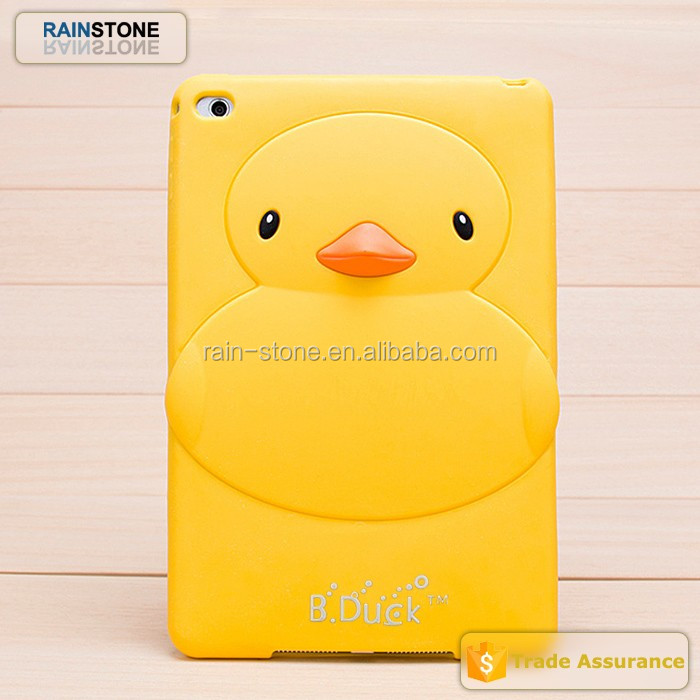 Factory price yellow duck soft tablet cover for ipad 5 case