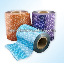 Yogurt wrapping packaging materials in roll