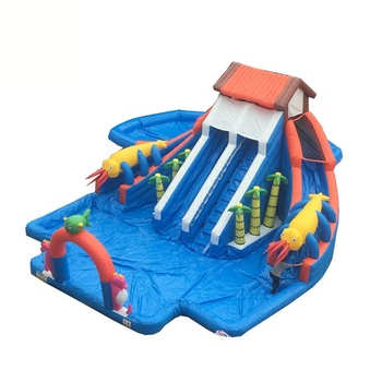 Children Water Sports Equipment Amusement Water Parks Slide Bounce House Playground Commercial Inflatable Water Park With Pool