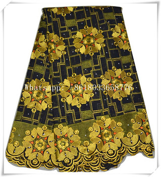 New design high quality african french dubai gold lace fabric with fashion pattern for women dress