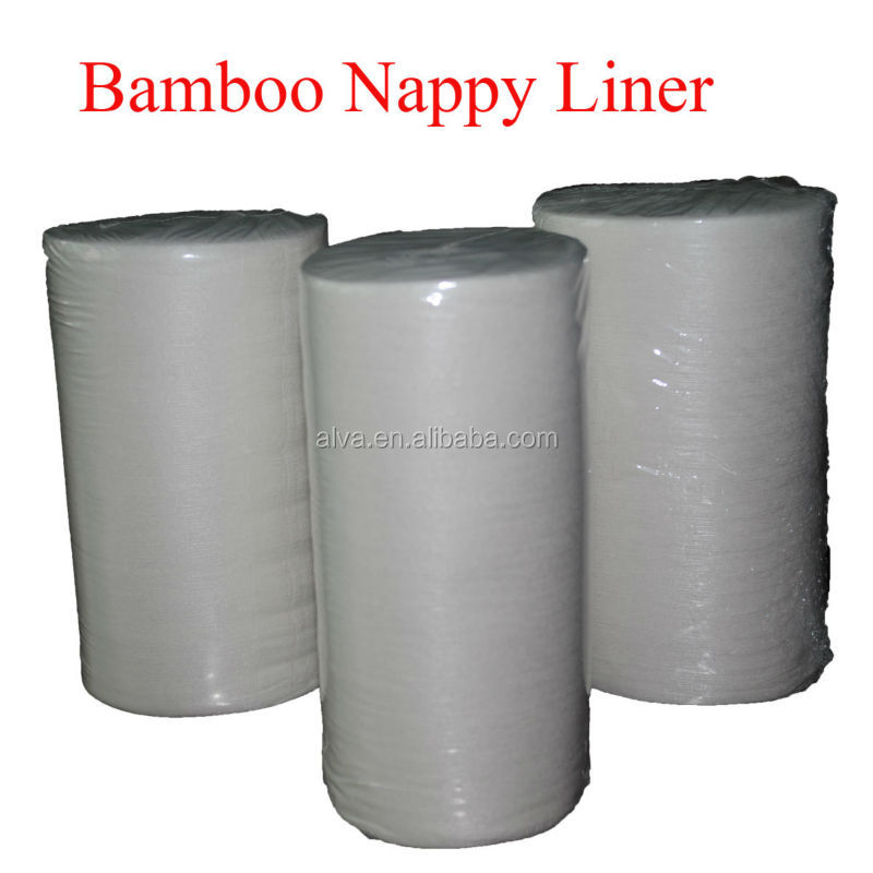 Alvababy Disposable&Flushable Bamboo Nappy Liner 100 Sheet Per Roll
