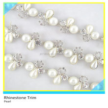 Fancy 888 Crystal Rhinestone Pearl Crystal Banding For Shoes