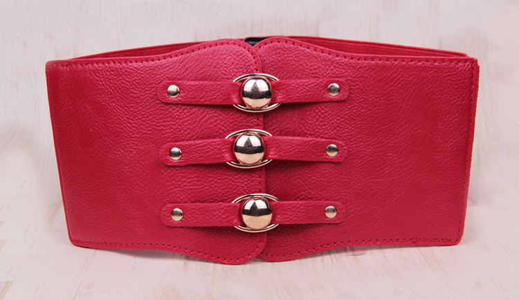 wp1043a Women PU Leather Belts High Waist Cinch Belt