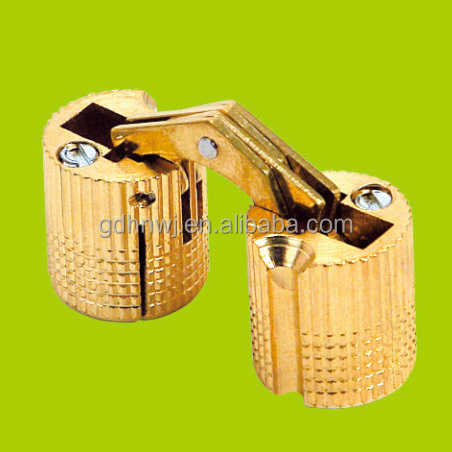 Hot sale cabinet furniture invisible hinge gold color,cylinder hinge/ Brass Conceal/H/invisible/folding barrel hinge(CH42)