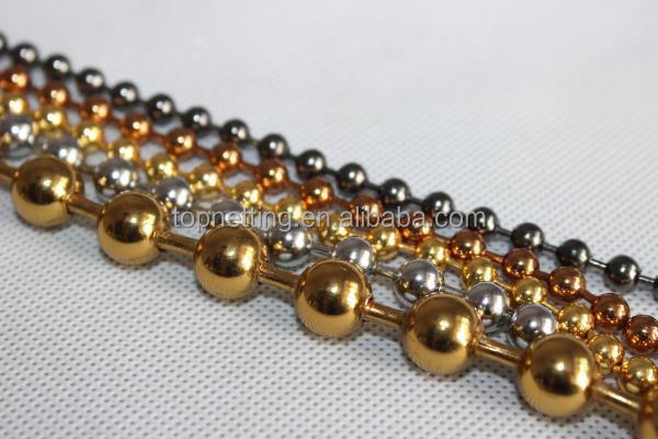 4.5mm colored necklaces metal ball chain