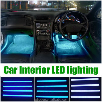 multi color led interior underdash lighting kit buy interior undercar led lighting led. Black Bedroom Furniture Sets. Home Design Ideas