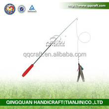 QQ Pet Products Sell Well Rod Cat Toy Fishing Rod Stick / Feather Stick / Funny Cat Teaser Stick