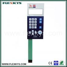 Factory price custom oem embossed key LCD window foil keyboard