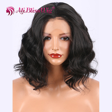 "12"" middle part cheap lace front wig with baby hair curly overnight delivery black Hair Lace Front Synthetic Wig"