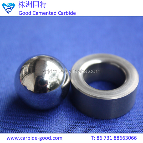 Tungsten alloy valve seat ball seat and cemented carbide sphere