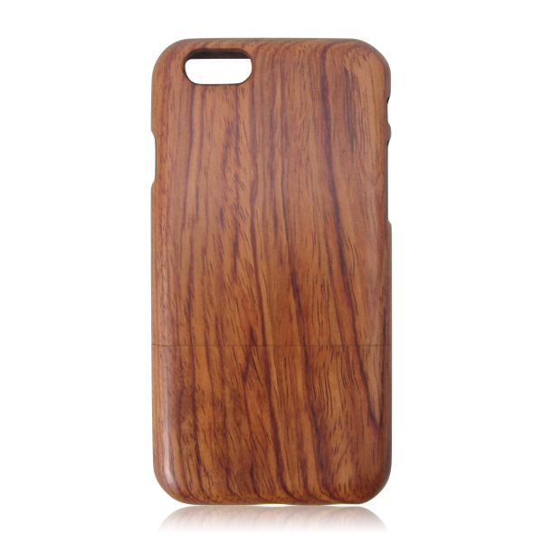 Two parts wood back cover natural solid wood phone case blank wooden case for iPhone 6
