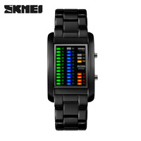 2016 skmei high quality binary reloj LED cool cheap LED watches for men digiatl