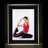 crystal yoga picture frame design LED light box
