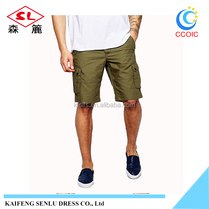 2017 classic-design mens short cargo 6 pocket 1/2 wholsale mens cargo shorts