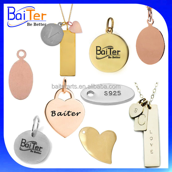 Custom Logo Printed Metal Tags Small For Jewelry,Custom Engraved Metal Jewelry Tags