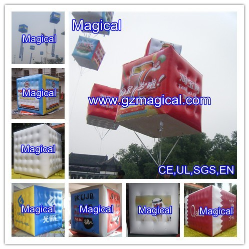 Custom promotional inflatable cube balloon inflatable cubes inflatable helium balloon