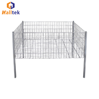 Retail Store Wire Promotion Container Metal Storage Cage