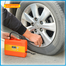Quick fill 12volt battery operated tire inflator for car wheels with digital gauge