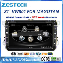 ZESTECH 8 inch double din car stereo for VW Universal car gps for MAGOTAN /SAGITAR/BORA/GOLF6/TOUGUAN Steering wheel control