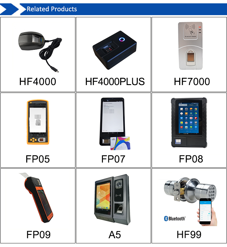 HF-FP09 Built-in Printer 4G GPRS Sim Card Verification Android Mobile Fingerprint WSQ Smart National Card Reader