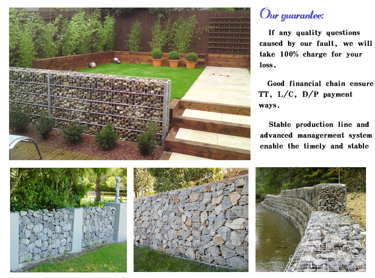 High quality galvanized gabion basket,gabion wall