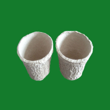 Disposable Compostable recycled paper pulp molded flower nursery pots