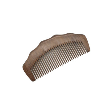 Natural wood beard and moustache brush comb kit with logo
