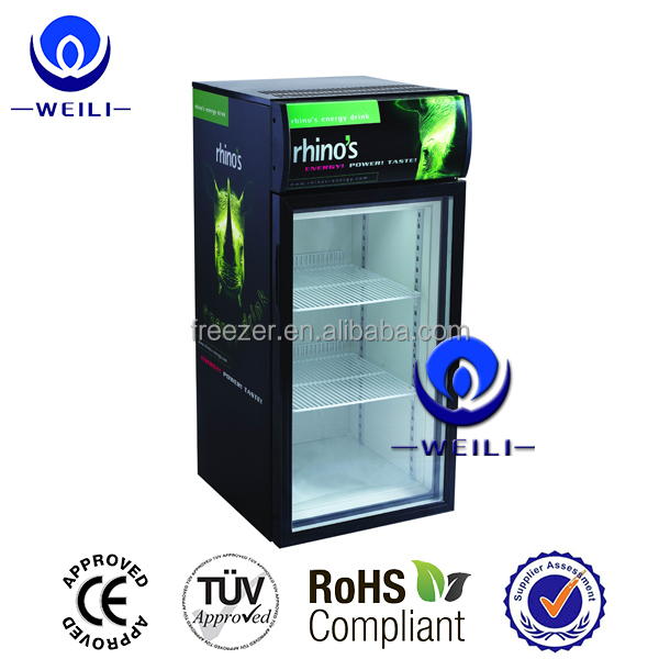 85L small desk top mini refrigerator home bar door refrigerator