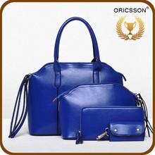 Factory directly 4 pcs women bags sets elegant ladies hand purse
