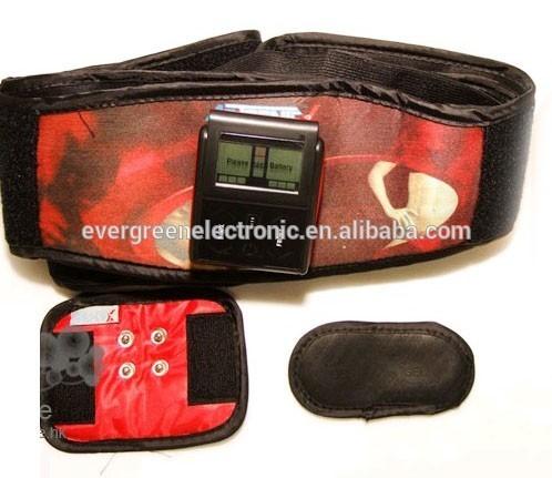 home fitness slimming tens massage belt reducing belly fat belt with timer function EG-MB05