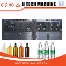 U TECH High Capacity 5 IN 1 Drinking Pure Water Filling line ,bottle bowling machine,water bottling equipment