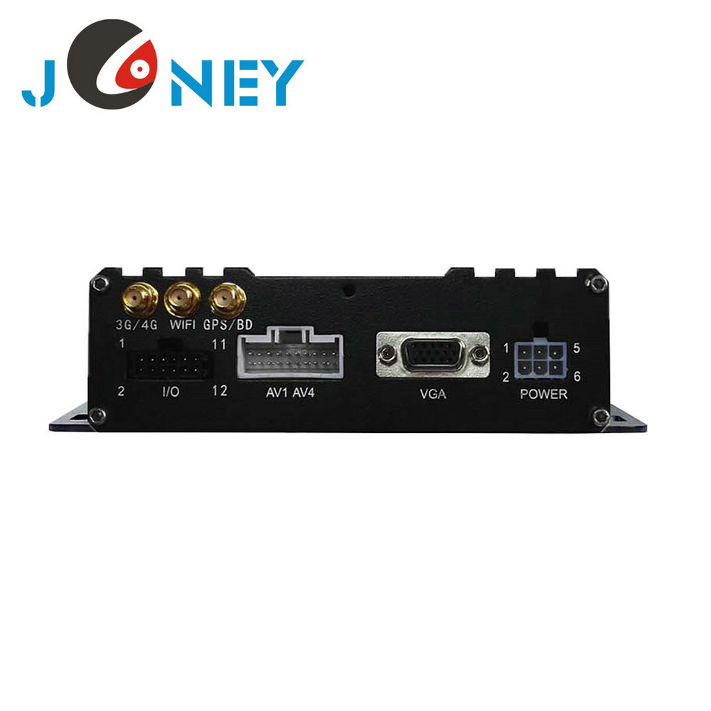 High Quality 4 Channels Mobile DVR with GPS 3G/4Gand Wi-Fi support 2HDD