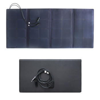 100W solar roof panel mobile solar Panel with Semi-fexible solar panel foldable for car battery