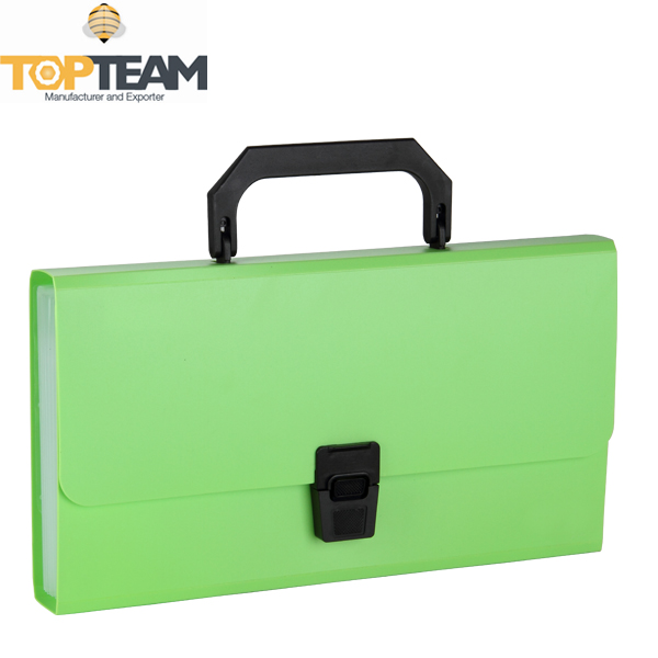 Wholesale 13P Organ Style Expandable File Case With Plastic Closure