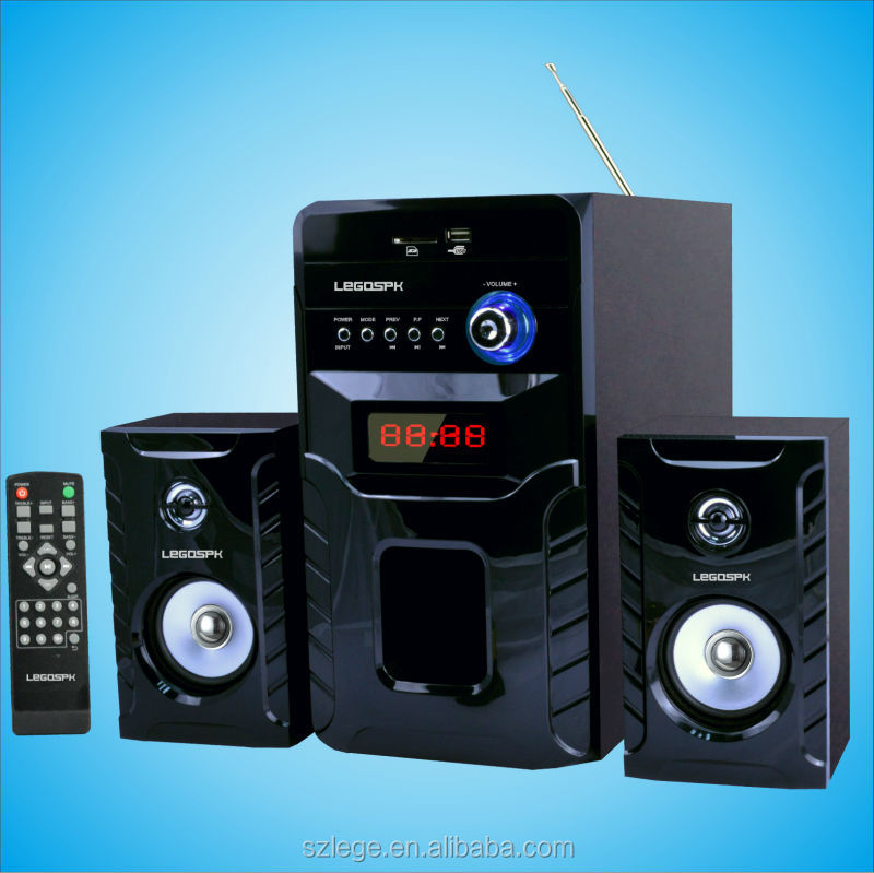 2.1 multimedia speaker system with bluetooth active speaker with usb port